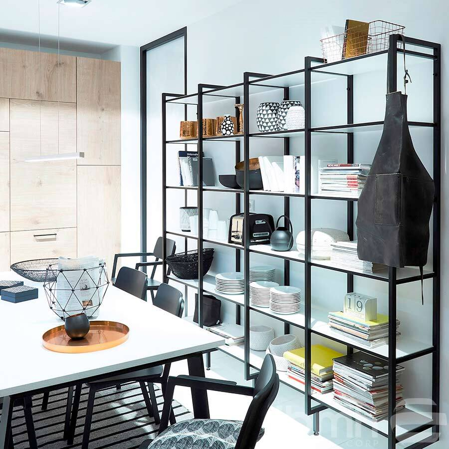 IMPORT FROM CHINA:Kitchen Modular Shelving Industrial Style Shelves Profiles for Modular Shelves Modular Steel Shelving Units