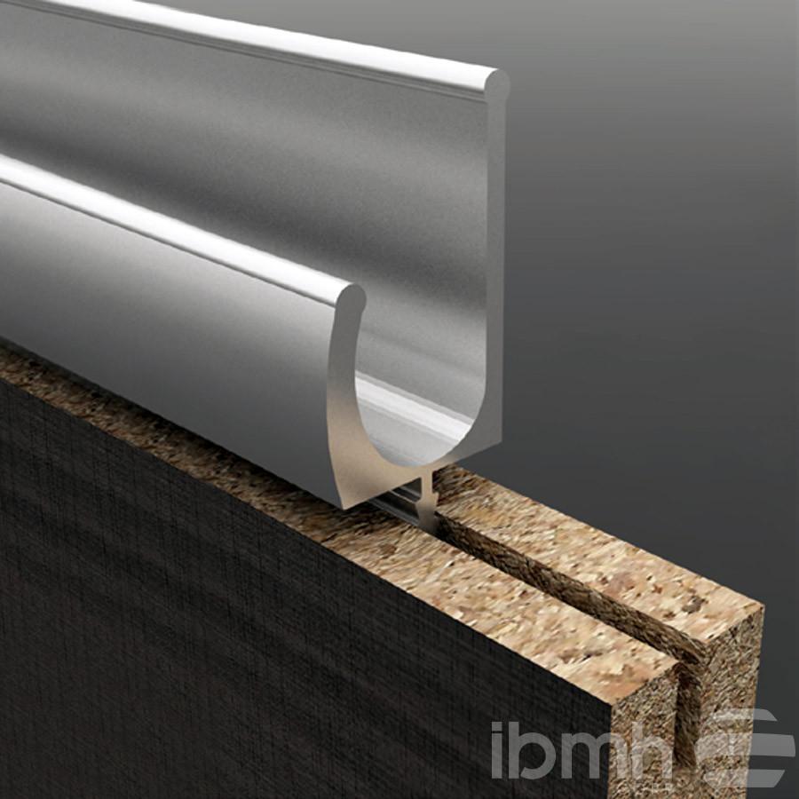 L neas de productos gestionados perfiles tirador y for Perfiles aluminio para muebles