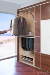 Wardrobe Lift With Elevating Mechanism Or Garment Lifts