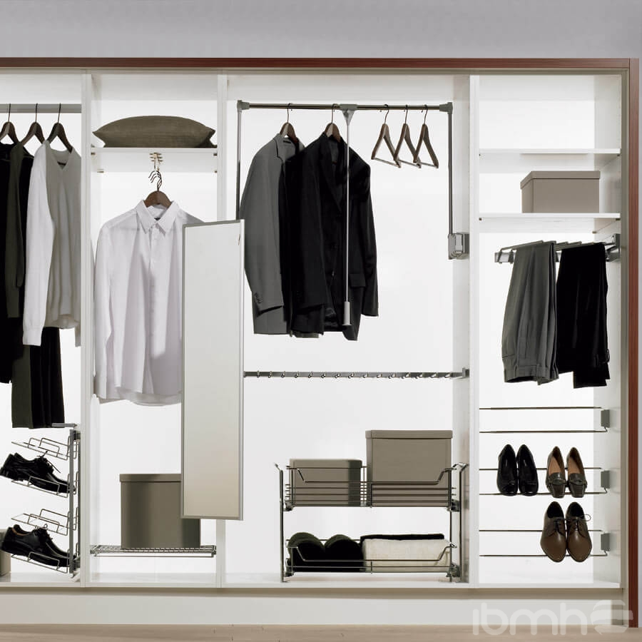 Wardrobe lift with elevating mechanism or garment lifts for Armario para zapatos