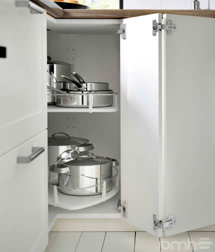 Kit of 4 hinges for corner kitchen cabinets