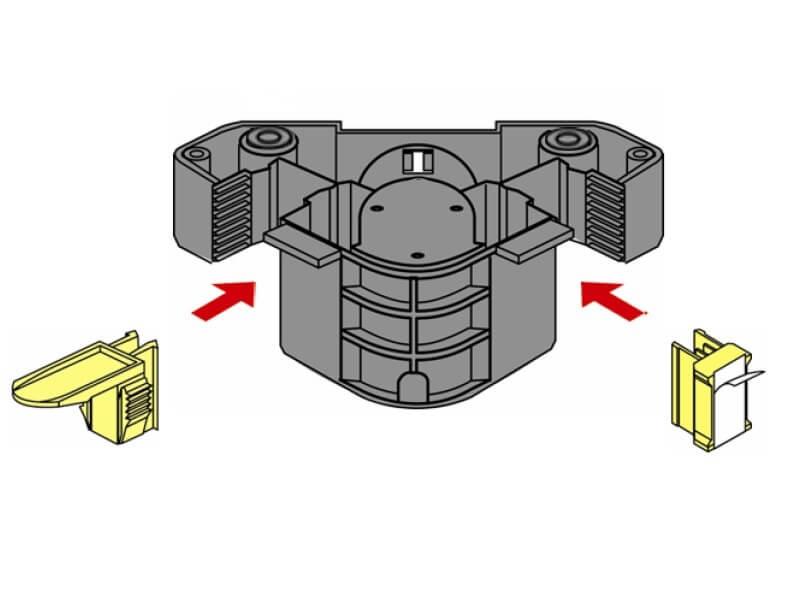 Folding leg for kitchen cabinets