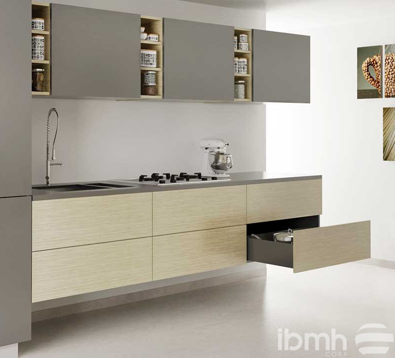 Discover the IBMH anti-rollover kitchen cabinet hanger with safety plate