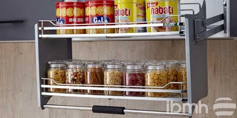 Lift-up Kitchen Cabinet Storege System.