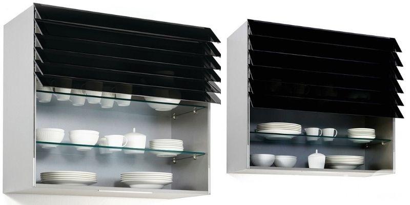 Gabinete de cocina con puerta plegable inteligente