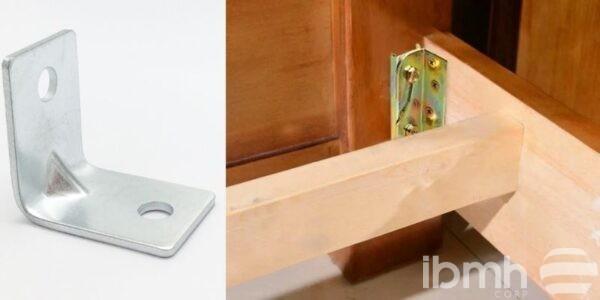 Herrajes conectores de acero para camas de madera de IBMH